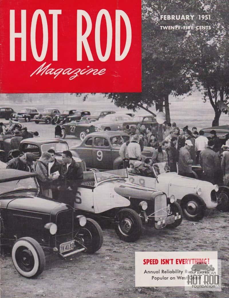 Hot Rod Cover Feb 1951